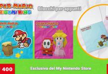 Ora disponibile i blocchi note di Paper Mario: The Origami King sul My Nintendo Store!