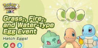 Pokémon Masters EX: ora disponibile l'evento Uova Erba, Fuoco e Acqua!