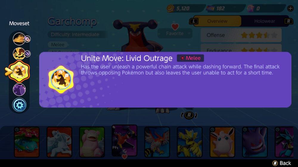 Pokémon UNITE: Garchomp UNITE Move