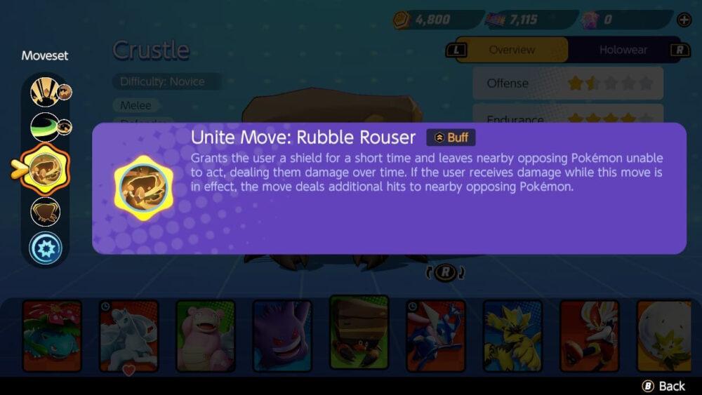Pokémon UNITE Crustle